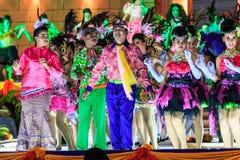 四色菊,泰国- 12月27 :未认出的舞蹈家执行 免版税库存图片