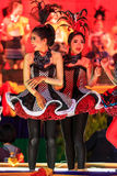 四色菊,泰国- 12月27 :未认出的年轻舞蹈家 免版税图库摄影