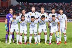 四色菊THAILAND-OCTOBER 29 :军队Utd的球员 队图片的姿势 库存照片