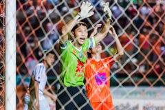 四色菊THAILAND-OCTOBER 22 :Kosin空军队中央FC Hembut  库存图片