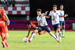 四色菊THAILAND-SEPTEMBER 16 :芭达亚Ut的未认出的球员 免版税库存照片
