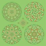 四花卉装饰装饰品 免版税图库摄影