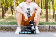 四轮溜冰者 图库摄影