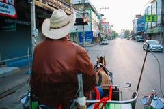 四轮马车Lampang,泰国 免版税库存图片