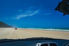 四轮驾驶在双重海岛点,昆士兰 免版税库存照片