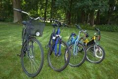 四辆自行车 库存图片