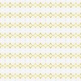 四针对性的星的无缝的抽象样式和在白色的其他形状,灰色,梯度黄色颜色金线艺术 向量例证