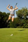 四高尔夫球运动员 免版税图库摄影