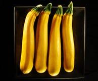 四黄色夏南瓜 库存图片