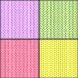 四织品无缝的纹理 向量例证