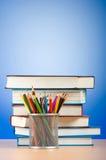 回到与书的学校概念 免版税库存图片
