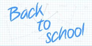 回到与数学几何Bac的学校课文 免版税图库摄影