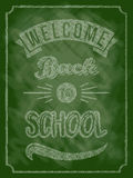 回到与文本的学校海报在黑板 库存例证