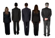 回到企业饰面小组 免版税库存图片