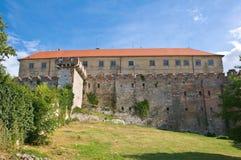回到城堡siklos视图 免版税库存照片