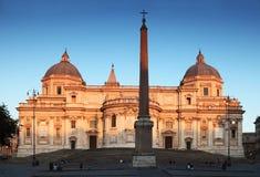 回到大教堂玛丽少校罗马教皇的圣徒 库存照片