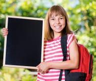 回到女孩学校 免版税图库摄影