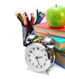 回到学校。 学校工具。 免版税图库摄影