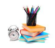 回到学校。 学校工具。 免版税库存照片