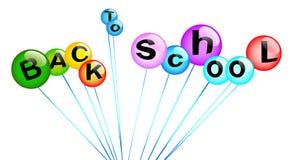 回到学校多彩多姿的泡影 免版税库存照片