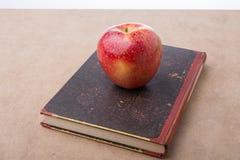 回到学校字法用苹果 免版税库存图片