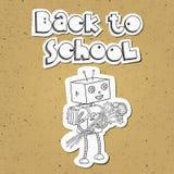 回到学校机器人01 免版税库存图片
