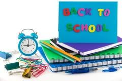 回到学校概念。 库存照片