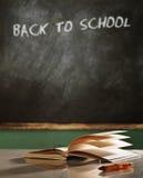 回到学校概念静物画 免版税图库摄影