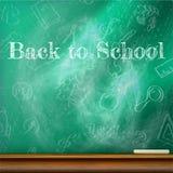 回到学校模板设计 正EPS10 免版税图库摄影