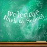 回到学校模板设计 正EPS10 免版税库存照片