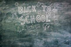 回到学校的单图黑板的 免版税库存照片
