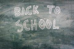 回到学校的单图黑板的 图库摄影