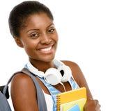 回到学校的成功的非裔美国人的学生妇女我 图库摄影