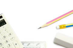 回到学校的文具概念 免版税库存照片