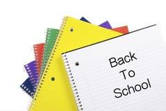 回到学校笔记本 免版税库存图片