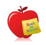 回到学校苹果例证设计 免版税库存图片