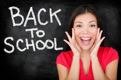 回到学校,大学学院实习教师 免版税图库摄影