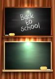 回到学校黑板 皇族释放例证