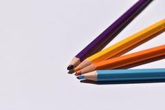回到学校-铅笔 免版税库存图片