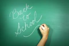 回到学校主题的背景图象的绿色 图库摄影