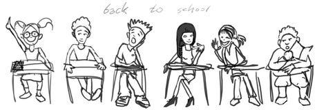 回到学校 免版税图库摄影