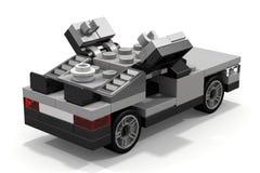 回到未来的乐高DeLorean 免版税库存图片