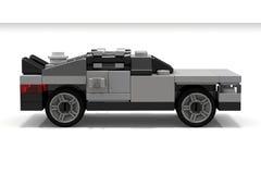 回到未来的乐高DeLorean 库存图片
