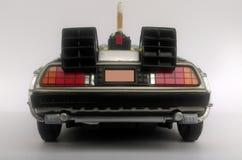 回到未来1和2的Delorean汽车 免版税库存图片