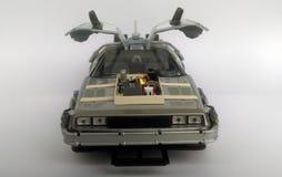 回到未来3汽车的Delorean 免版税库存图片