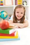 回到概念了解准备好的学校 免版税库存照片