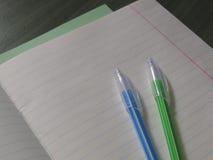 回到概念学校 把笔记本变成一l 免版税库存图片