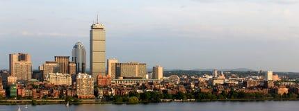 回到海湾波士顿brookline全景 免版税库存照片