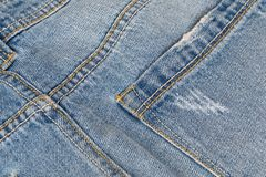 回到牛仔裤 免版税库存图片