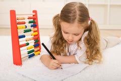 回到知识刷新的学校主题 免版税库存照片